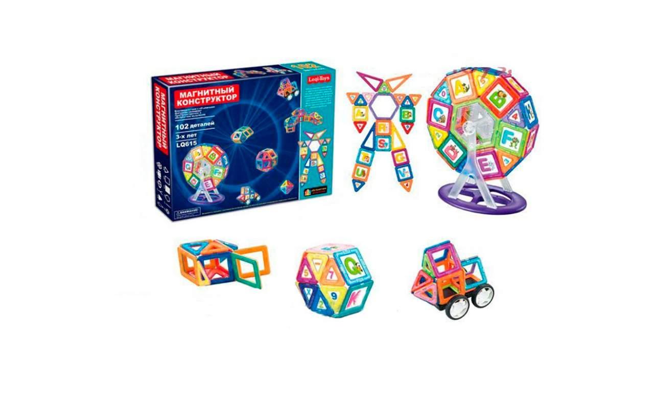 Магнитный конструктор Leqi-toys 102 деталей