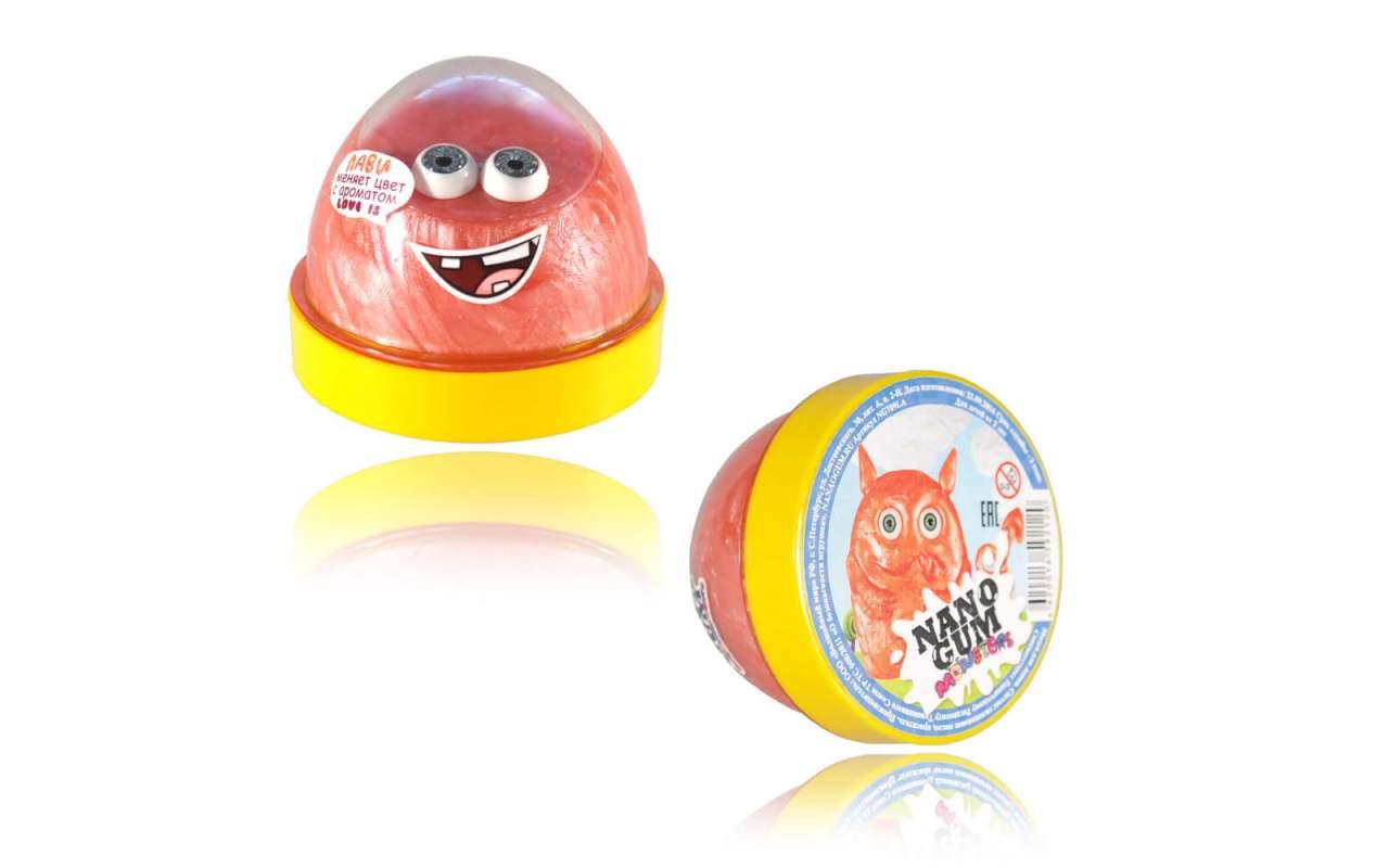 """Купить Nano gum """"Лави"""". С ароматом """"LOVE IS"""" и меняет цвет"""