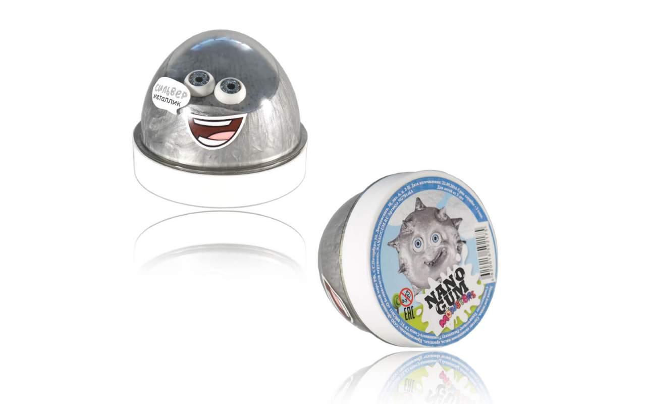 Купить Nano gum 'Сильвер'. Металлик