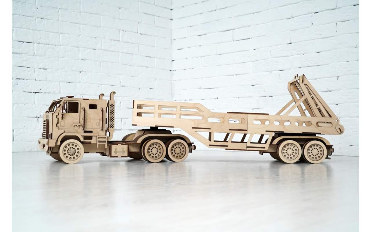 Купить Автовоз конструктор Lemmo из дерева