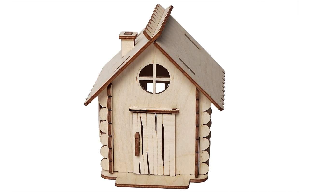 Купить Домик маленький конструктор Lemmo из дерева