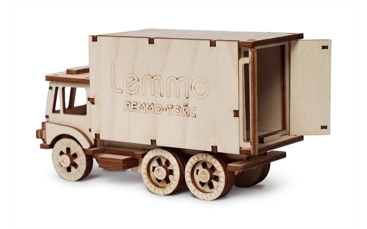 Купить Грузовик чип конструктор Lemmo из дерева