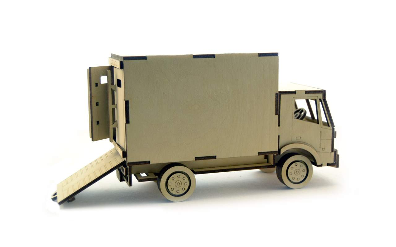 Купить Грузовик фургон конструктор Lemmo из дерева