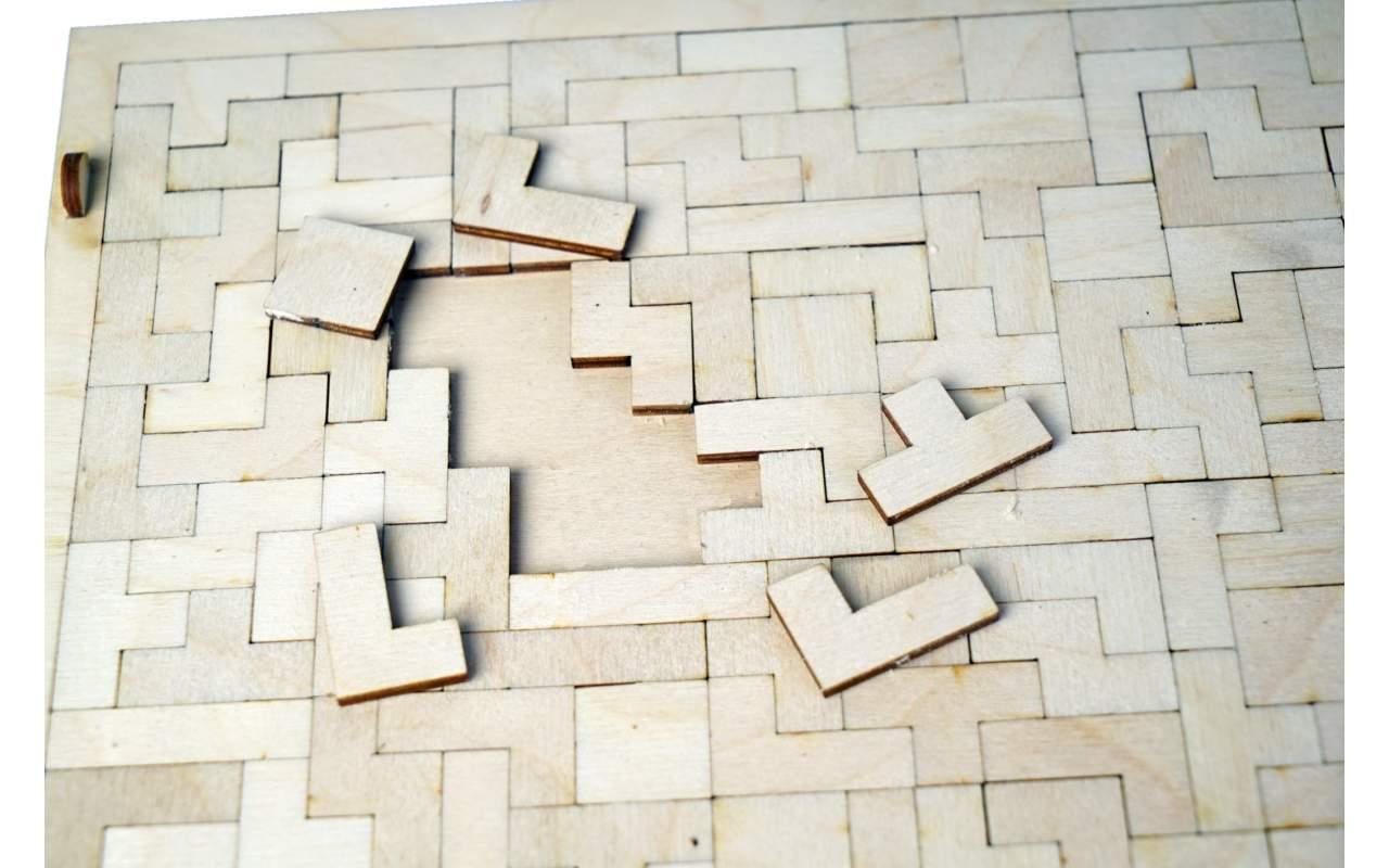 Купить Игра Тетрис конструктор Lemmo из дерева