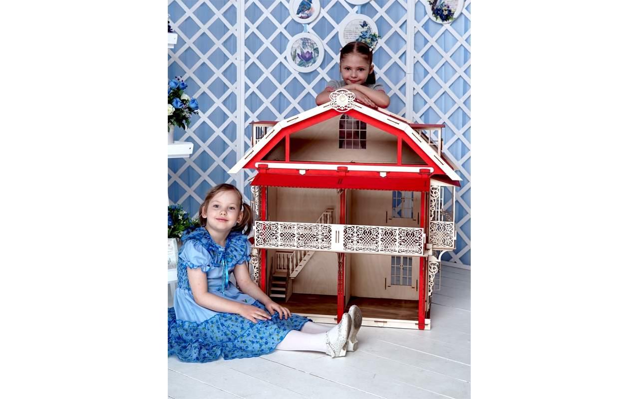 Купить Кукольный домик конструктор Lemmo из дерева