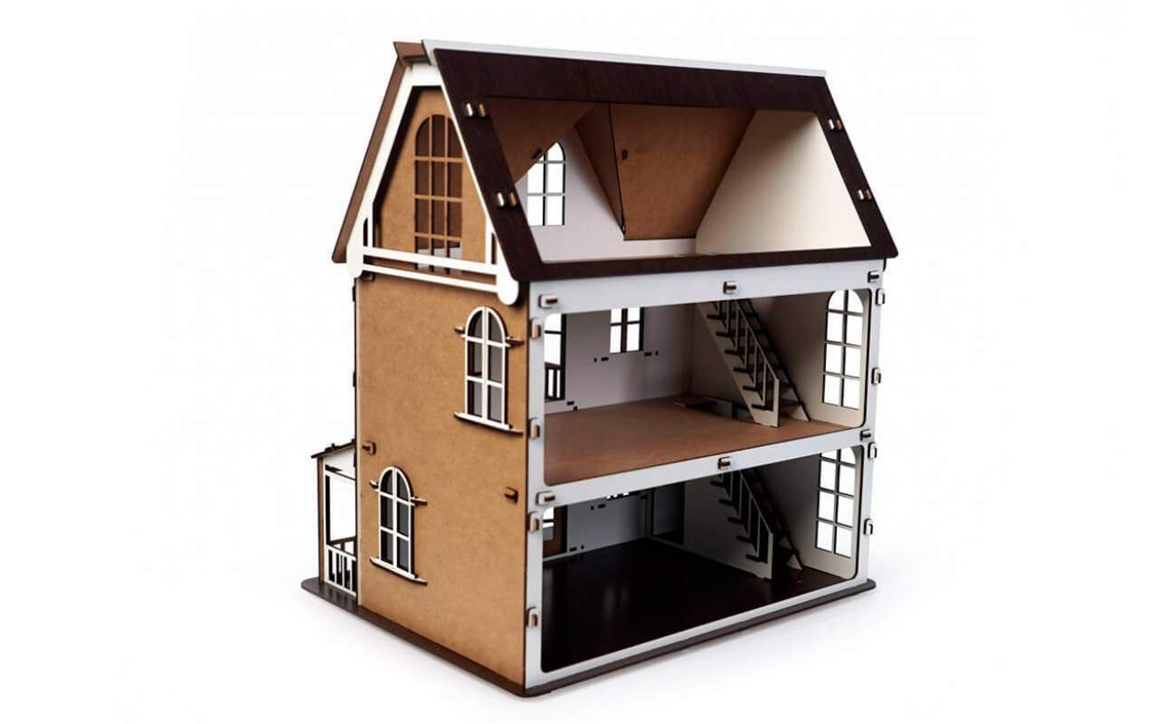 Купить Кукольный Дом Венеция конструктор Lemmo из дерева
