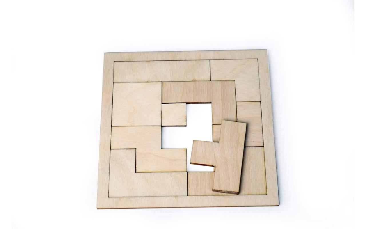 Купить Игра Квадрат конструктор Lemmo из дерева