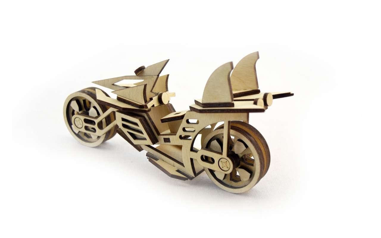 Купить Мотоцикл Фантом конструктор Lemmo из дерева