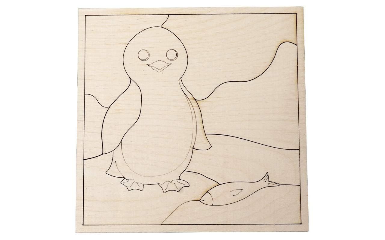 Купить Пазл Пингвин конструктор Lemmo из дерева