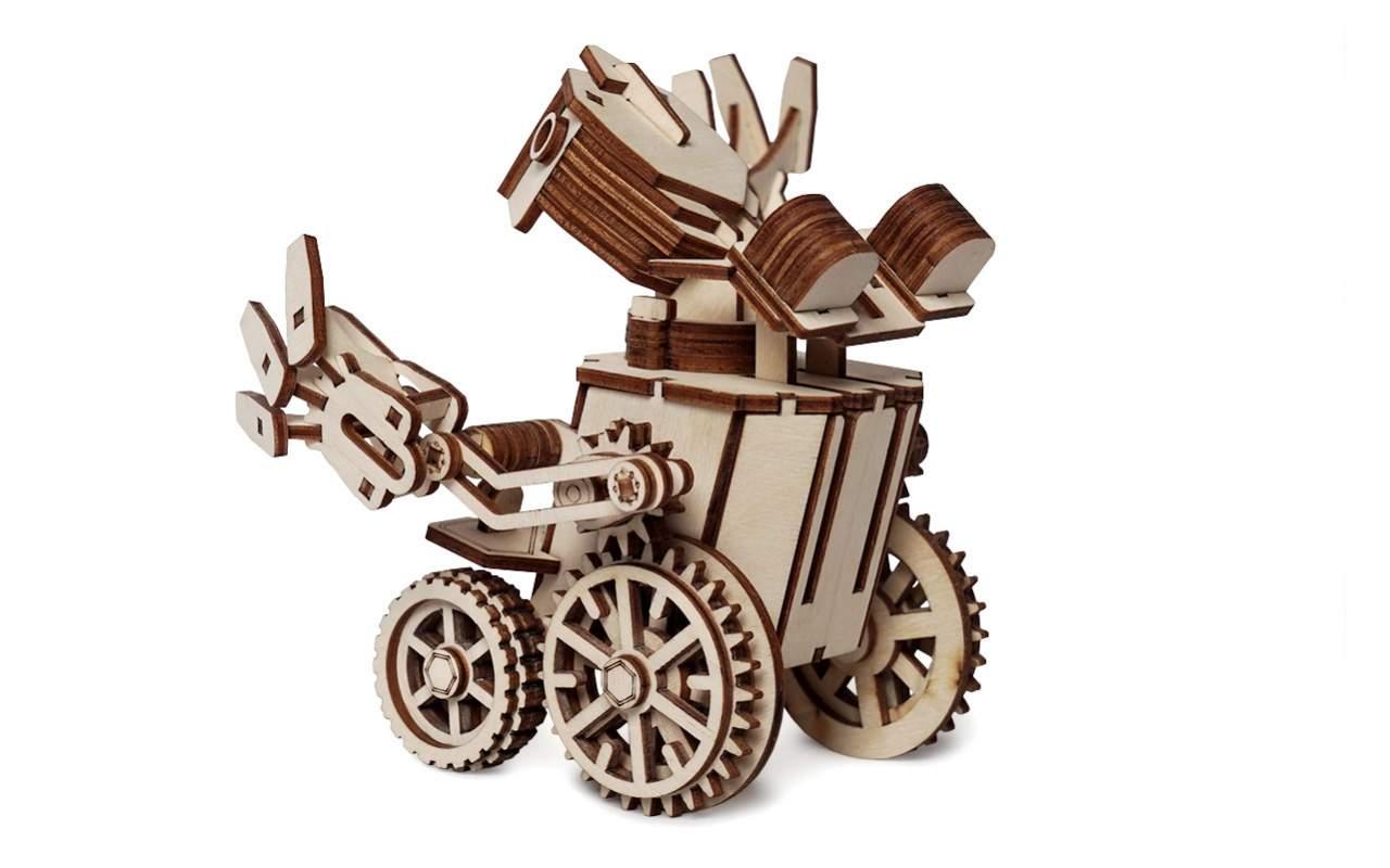 Купить Робот Max конструктор Lemmo из дерева