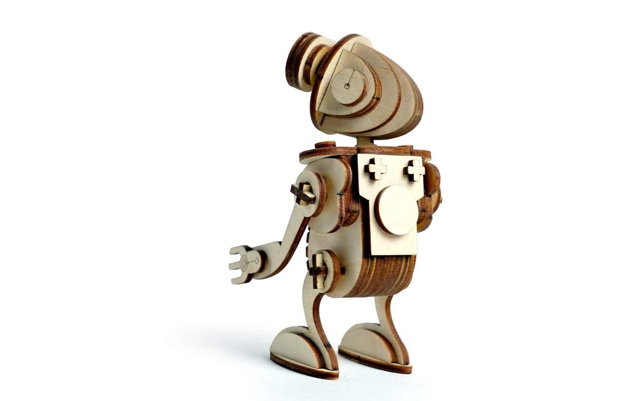 Купить Робот Сан конструктор Lemmo из дерева