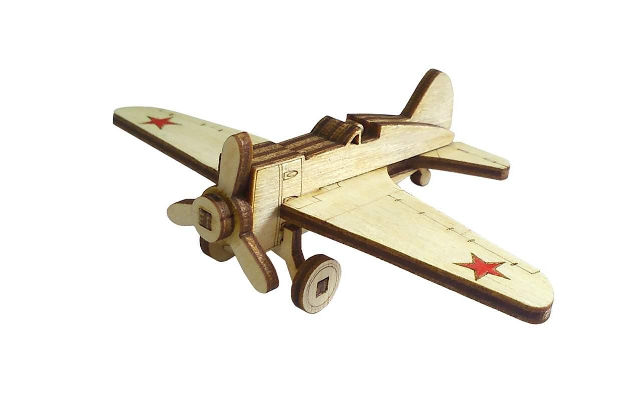Купить Советский истребитель И-16 конструктор Lemmo из дерева