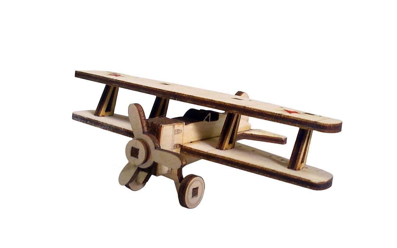 Купить Советский самолет И-15 бис конструктор Lemmo из дерева