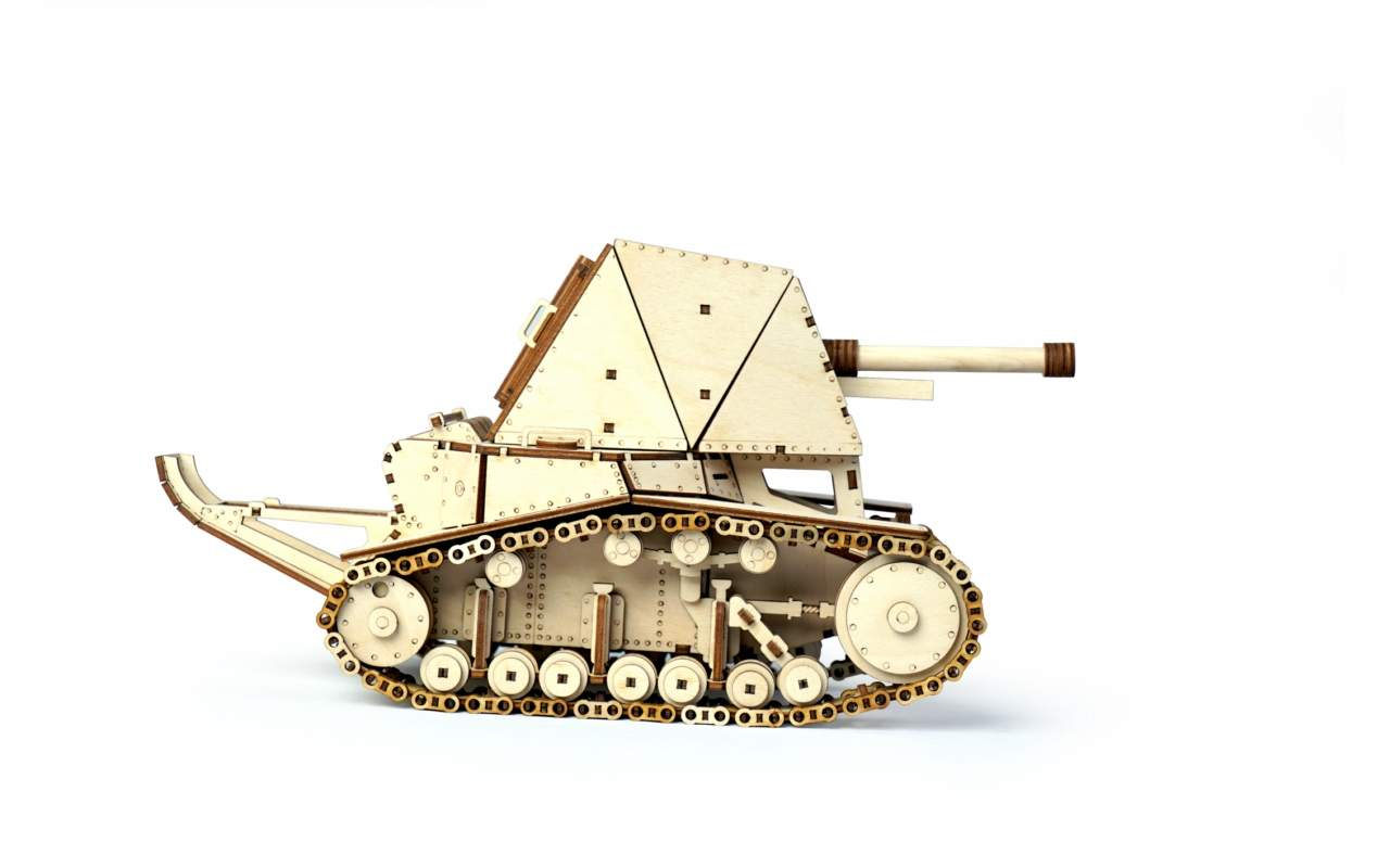 Купить Танк СУ-18 конструктор Lemmo из дерева