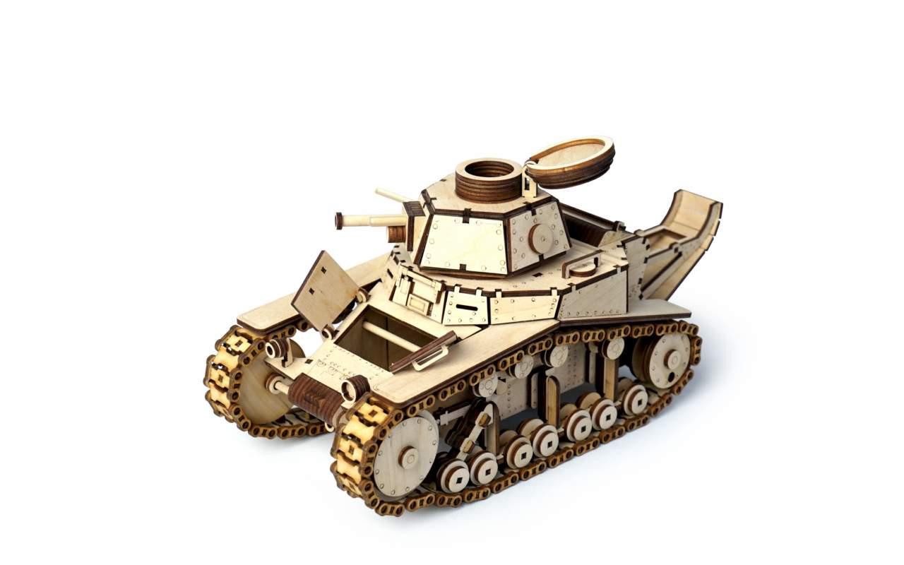 Купить Танк MC-1 конструктор Lemmo из дерева