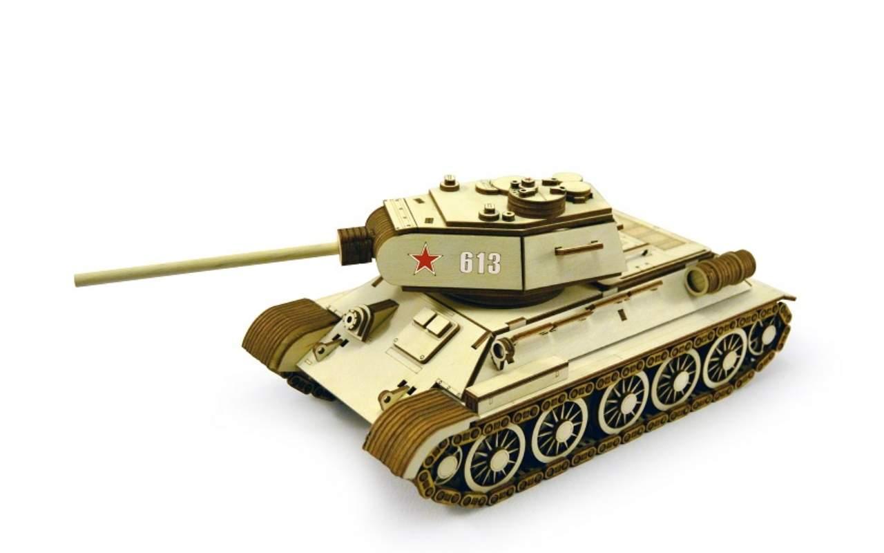Купить Танк Т-34-85 конструктор Lemmo из дерева