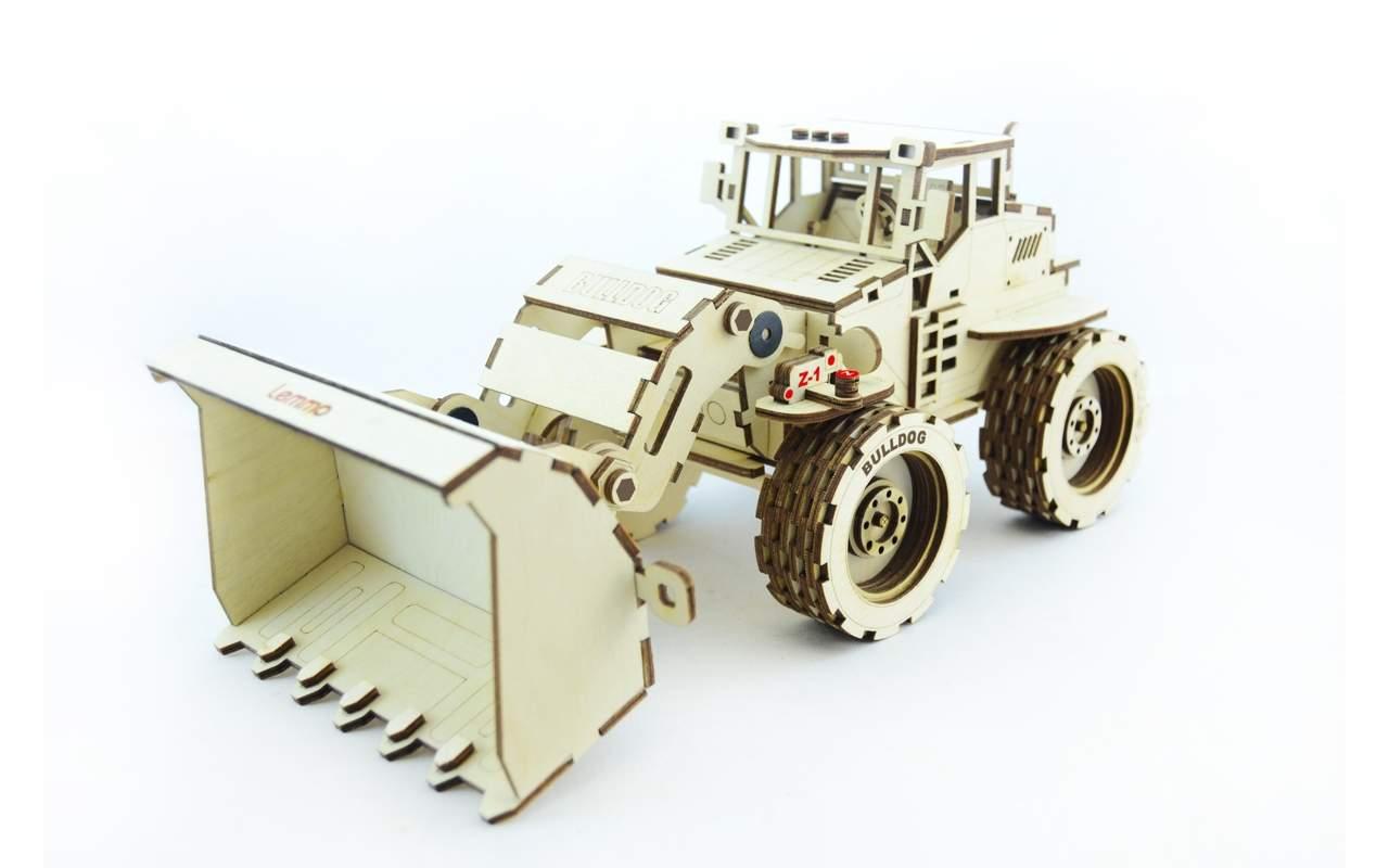 Купить Трактор Бульдог конструктор Lemmo из дерева