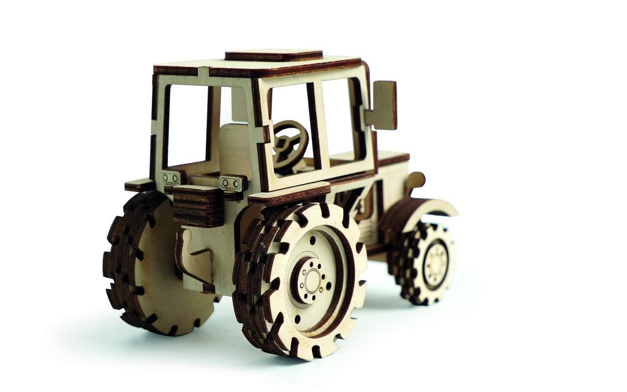 Купить Трактор конструктор Lemmo из дерева