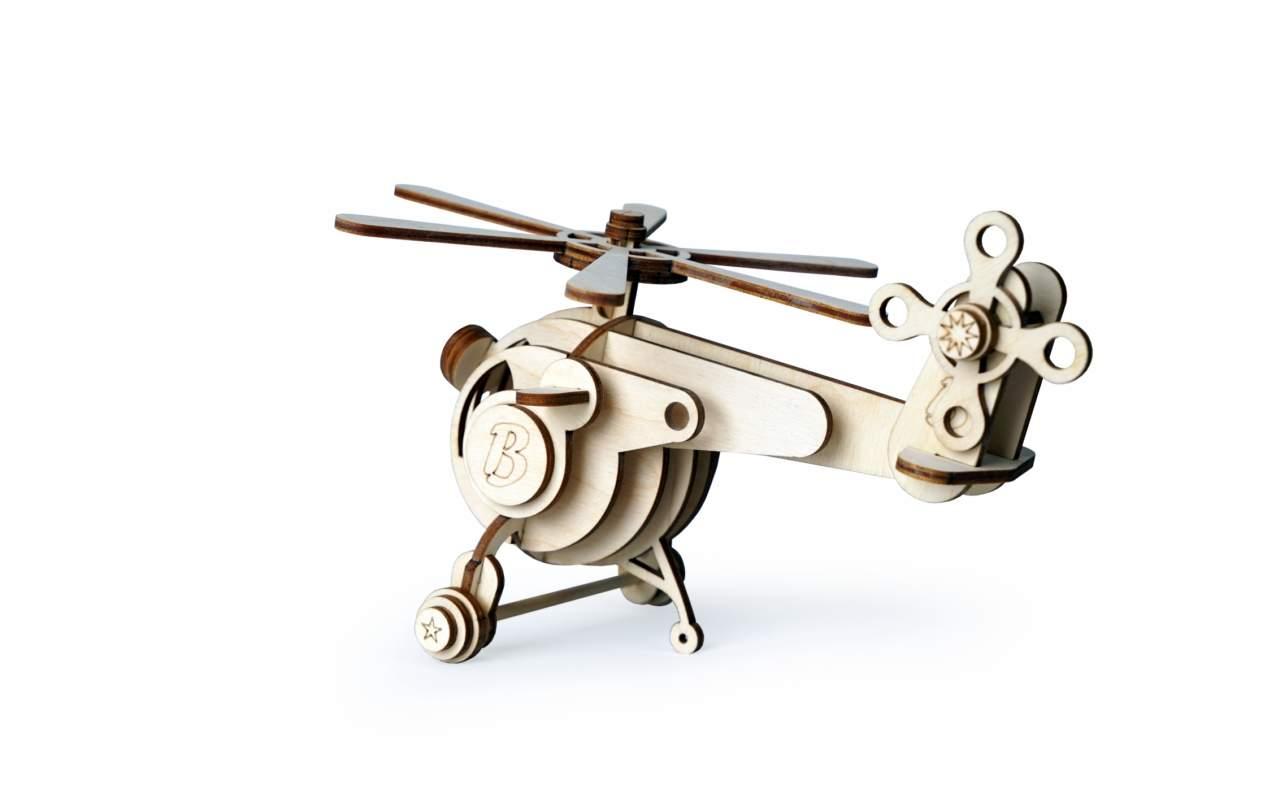 Купить Вертолет витя конструктор Lemmo из дерева