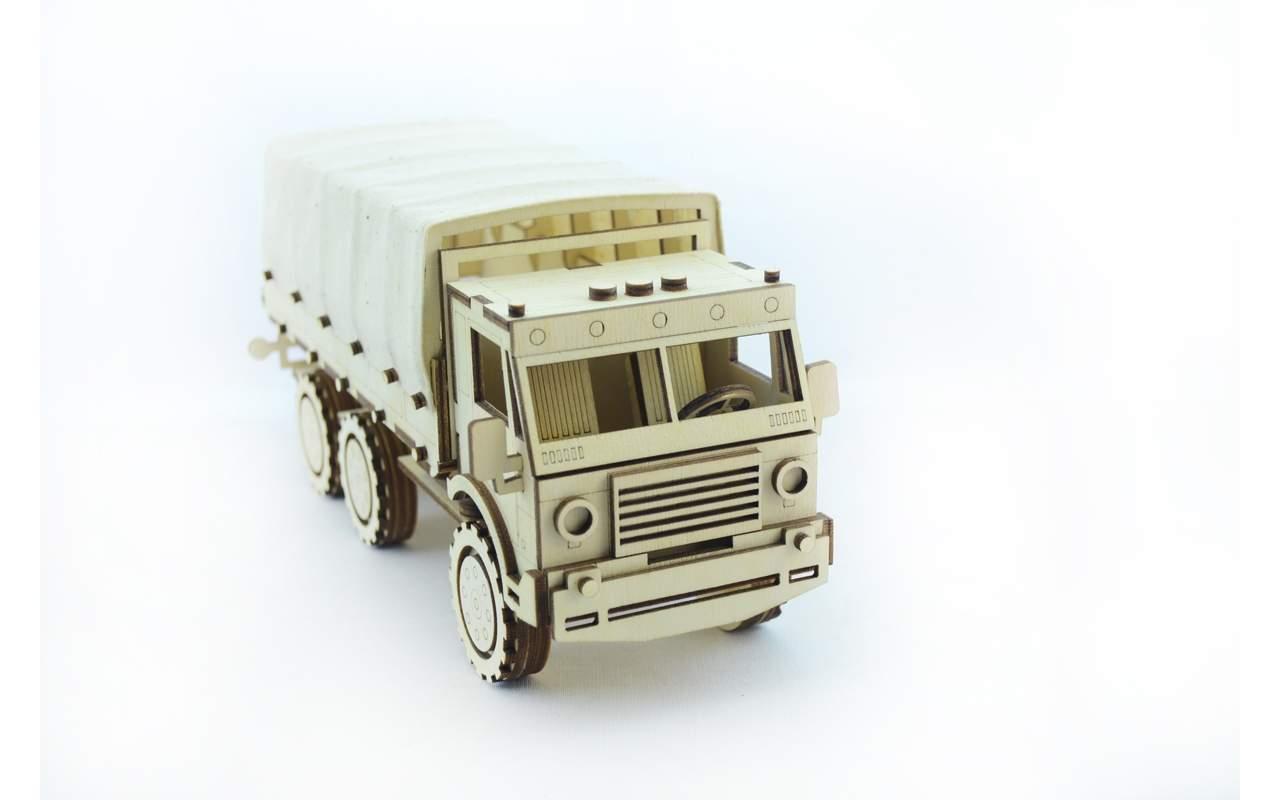 Купить Военный грузовик конструктор Lemmo из дерева