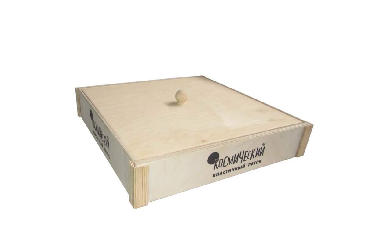 Деревянная песочница 40х40(с логотипом)
