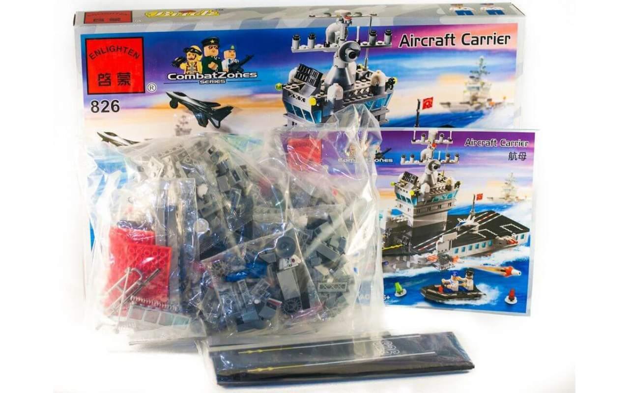 Конструктор аналог ЛЕГО (LEGO) Авианосец BRICK 826