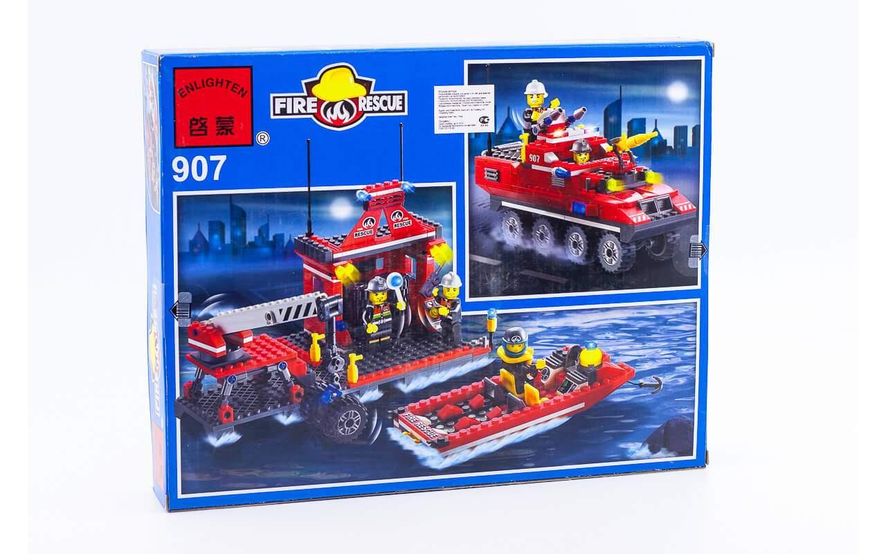 Конструктор аналог ЛЕГО (LEGO) Пожарная техника BRICK 907