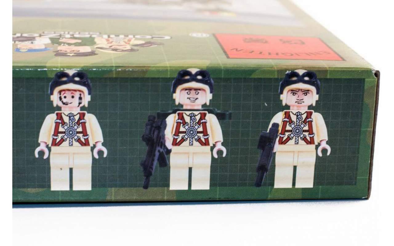 Конструктор аналог ЛЕГО (LEGO) Военный вертолёт BRICK 818