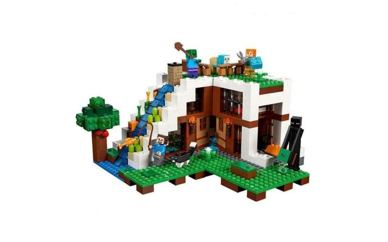 Конструктор аналог ЛЕГО (LEGO) MINECRAFT База на водопаде MY WORLD BELA 10624