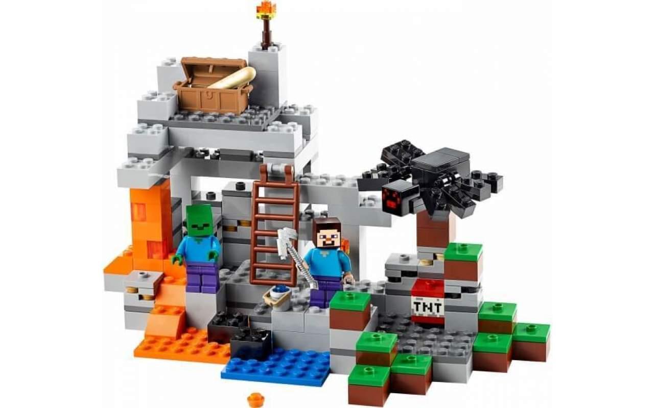 Конструктор аналог ЛЕГО (LEGO) MINECRAFT Пещера MY WORLD BELA 10174
