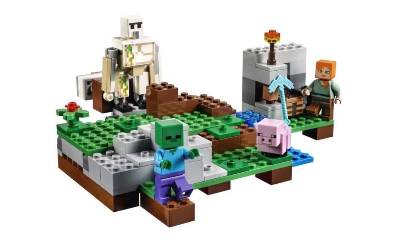 Конструктор аналог ЛЕГО (LEGO) Minecraft Железный голем MY WORLD BELA 10468