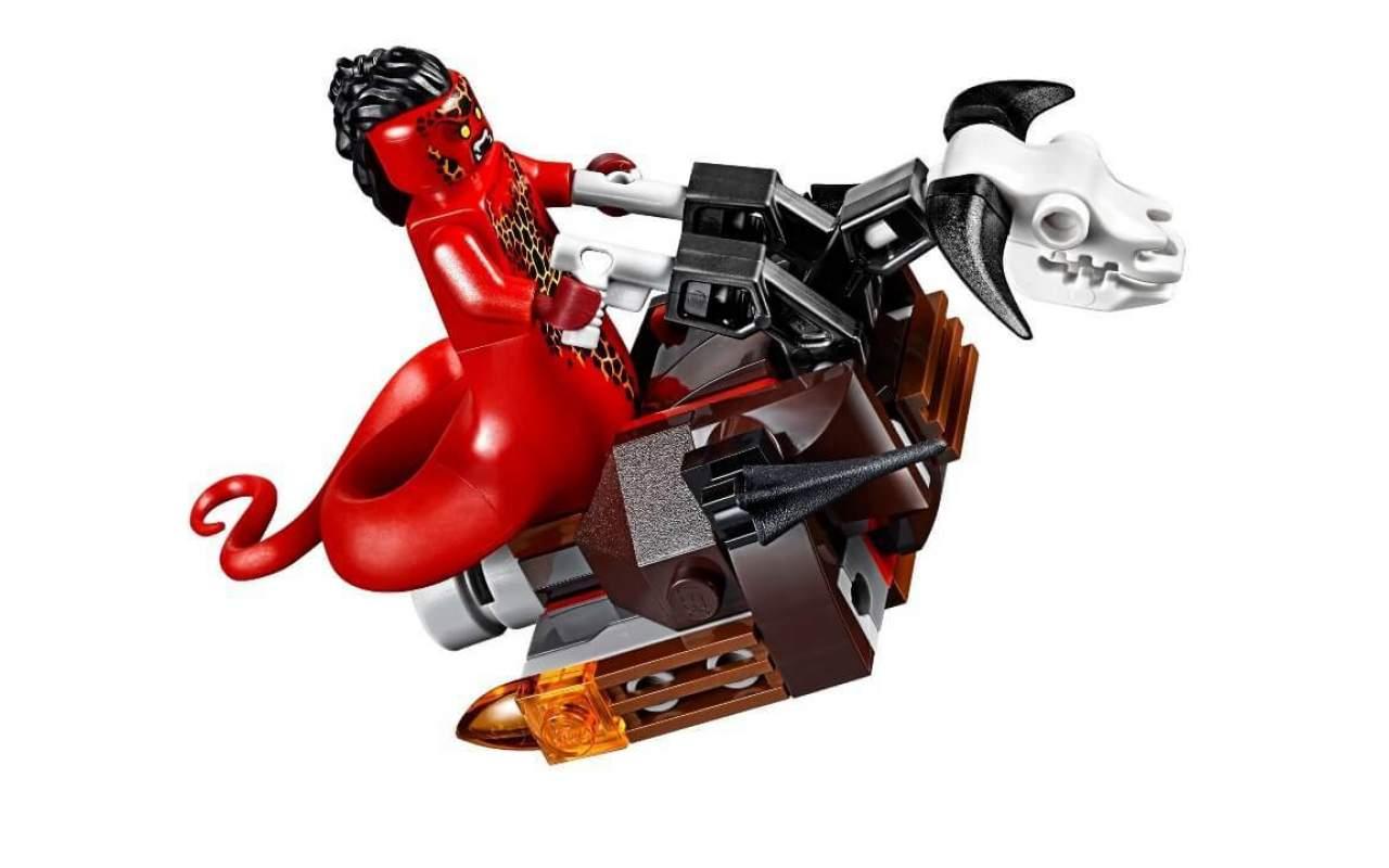 Конструктор аналог ЛЕГО (LEGO) NEXO KNIGHTS Механический робот черного рыцаря BELA 10519