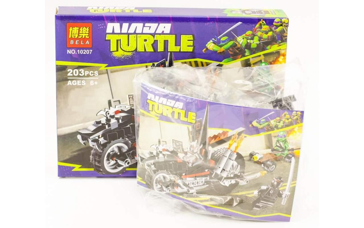 Конструктор аналог ЛЕГО (LEGO) Черепашки-ниндзя Мотоцикл-дракон Шреддера NINJA TURTLE BELA 10207