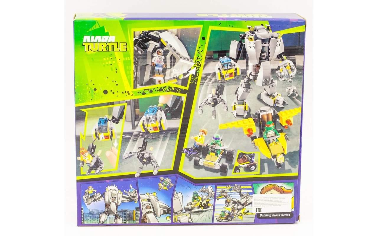 Конструктор аналог ЛЕГО (LEGO) Черепашки-ниндзя Нападение робота Бакстера NINJA TURTLE BELA 10209