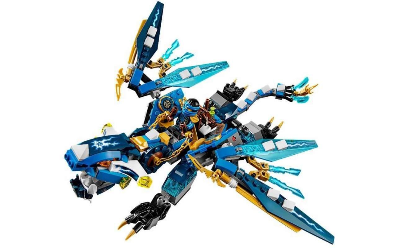 Конструктор аналог ЛЕГО (LEGO) NINJAGO Дракон стихий Джея NINJA BELA 10446