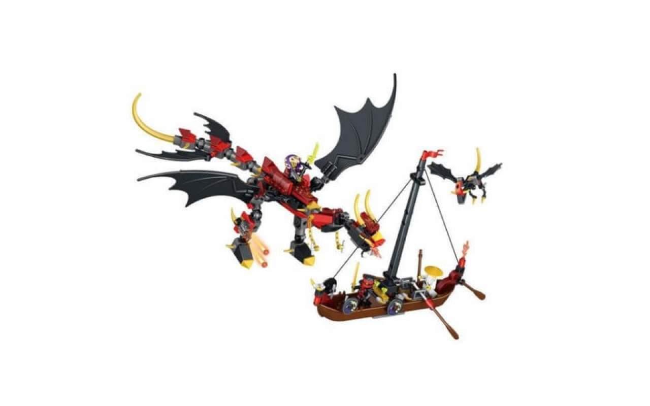 Конструктор аналог ЛЕГО (LEGO) NINJAGO Нападение дракона NINJA BELA 31014