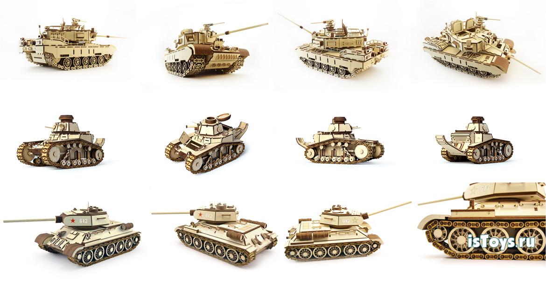 Обзор моделей танков lemmo (леммо) конструктор из дерева подвижный